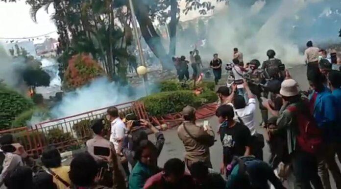 unjukrasa mahasiswa lampung